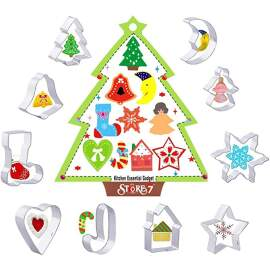 Christmas Cookie Cutter Set Of 10 (Small)