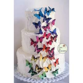 Wafer Paper Butterfly (multi colour)
