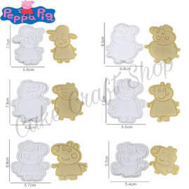 Peppa Pig Cookie Cutter and impression Set