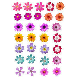 Wafer Paper Flowers (multi colour)