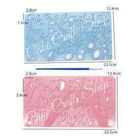 Alphabet Cake Stamp Pack of 2 Sets