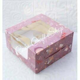 Cupcake Box 4 Cavity Valentines Love Print (6Pcs)