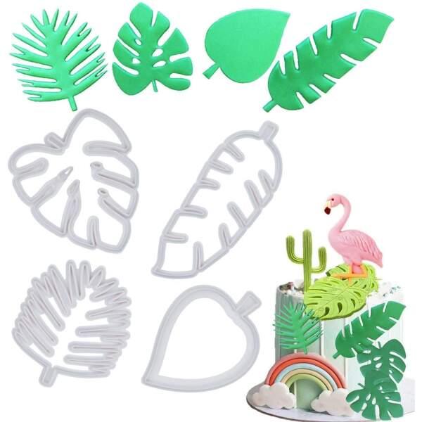 Tropical Leaf Cutter Set -set of 4