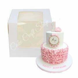 10x10x10 inch Double Window Tall Cake Box (6pcs)