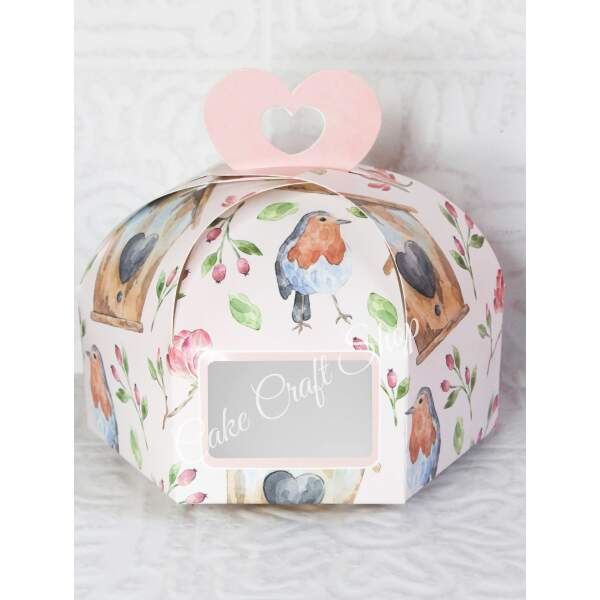 Dry Cake Box 7x7x5in Little Birdie