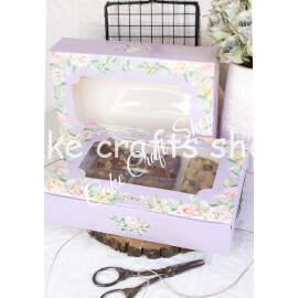Brownie Box for 6-8 Brownies Lilac Fleur (6pcs)