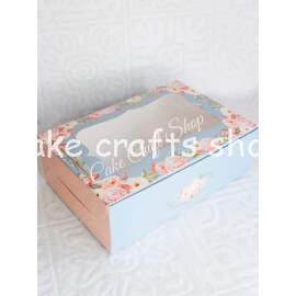 Cupcake Box 6 Cavity Elegant Grey Garden (6Pcs)