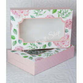 Brownie Box for 6-8 Brownies Floral Watercolour (6pcs)
