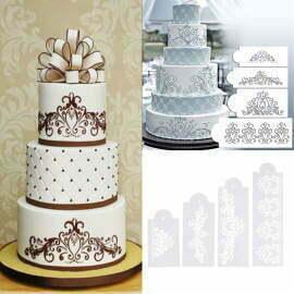 Cake Stencil Set of 4pcs