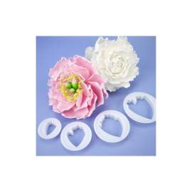 Peony Fondant Flower Cutter set -Plastic