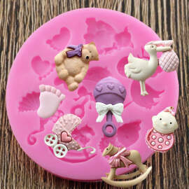 Baby Shower Theme Silicone Mould