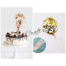 Balloon cake topper (single piece)