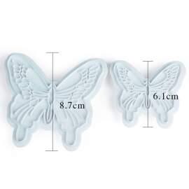 2pc Butterfly Fondant Cutter