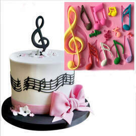 Music Notes shape Silicone Mold