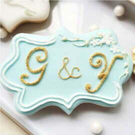 Plaque/ Frame fondant/ cookie Cutter