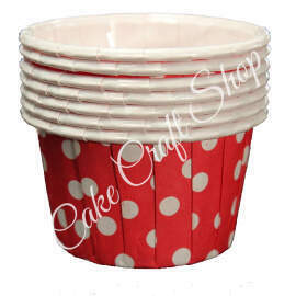 Red Bake & Serve Muffin Cups (Standard Size) 50pcs