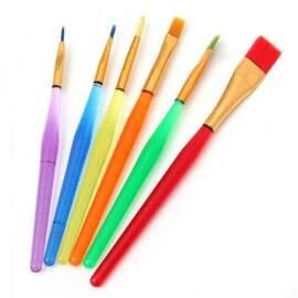 Rainbow Brush Set - 6 Peices