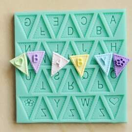 Silicone Bunting Alphabet Mould