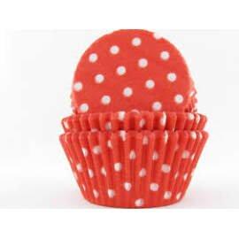 Red Polka Dot Cupcake Liners